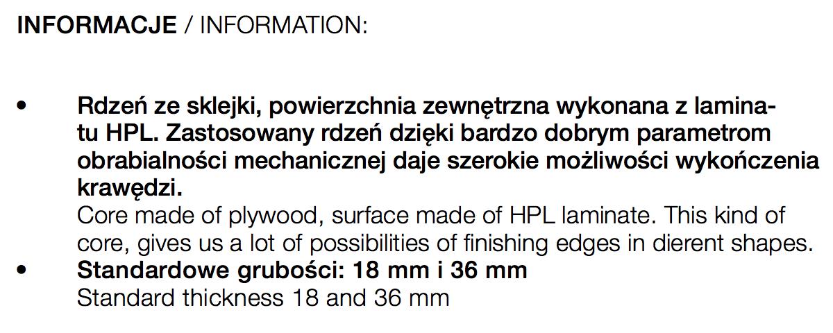 Blat TLP - SKLEJKA LAMINOWANA HPL - Meblesklep.pl